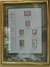 """Collectible Vintage 1986 """"STAMPS of LAW"""" Limited Edition Framed Numbered Signed"""