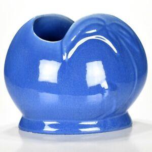 "Vintage Pittsville Pottery Blue Cystalized glazed 6"" x 8"" Deco Vase c1930-40s"