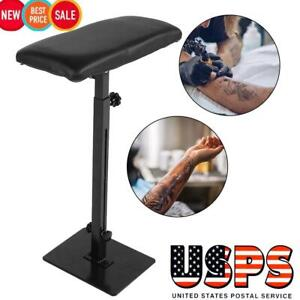 Professional Tattoo Armrest Adjustable Height Leg Rest Stand Arm Bar Pad Tool