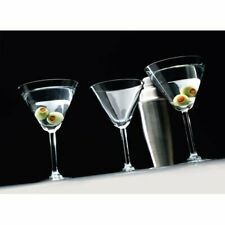 "Circleware ""Event"" 4 Piece Set Clear Martini Glasses 10 oz, 6 3/4"" H"