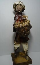 Vintage Figure Mexican Paper Mache Fisherman Figurine