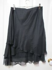LADIES BLACK CHIFFON FLARED SKIRT SIZE 12 MILLERS LABEL