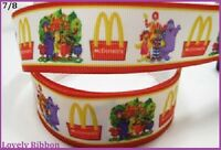 2 metres, Macdonalds, 22mm, Lovely Ribbon, 7/8, Grosgrain, Hair, Sewing
