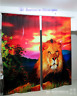 3D Lion Paint 3 Blockout Photo Curtain Printing Curtains Drapes Fabric Window AU