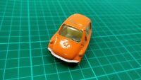Vintage Corgi 233 Orange Heinkel Kabine Micro Bubble Car Diecast Toy Model