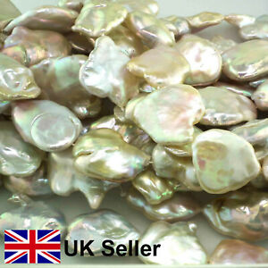 Superb Large Natural Pink Keishi loose pearl string, by Pearls Direct