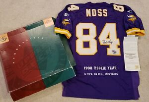 Randy Moss Rookie Upper Deck Signed Stat Jersey