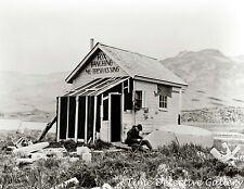 Fox Trapper at His Cabin, Aleutian Islands, Alaska - 1938 - Historic Photo Print