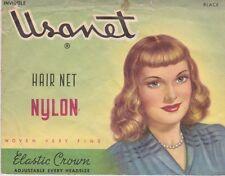 USANET VINTAGE NYLON HAIR NET 1940/50''s