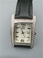 """NEW MARC ECKO WOMEN'S """"The Ice Raj"""" CRYSTAL STAINLESS STEEL WATCH E85001G6"""