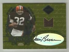 Jim Brown Jamal Lewis 2003 LEAF LIMITED NFL JERSEY AUTOGRAPH CARD 20 SIGNED AUTO