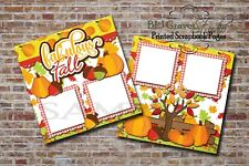 Fabulous Fall, Leaves, Pumpkins 2 PRINTED Premade Scrapbook Pages BLJgraves 73