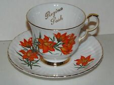 Royal Windsor Bone China, Prairie Lily, Floral Emblem of Saskatchewan Cup saucer