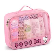 Girl Travel Portable Cosmetic Bag Women Hello Kitty Zipper Makeup Case Storage