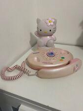 Hello Kitty - Hitachi Landline Telephone - Good Condition Vintage Cute Pink 80s