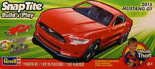 RED 2015 FORD MUSTANG GT REVELL 1:25 SCALE MODEL SNAP TITE KIT NO GLUE NEEDED