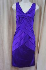 Tadashi Shoji Dress Sz 4 Purple Sleeveless Formal Evening Cocktail Dress