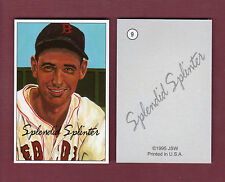 "JSW 1952 Bowman-style TED WILLIAMS ""Splendid Splinter"", RED SOX 2-cards-for-1"