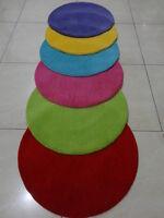Indian Hand Tufted Plain Round Modern Woolen Carpet Rug Alfombras Teppich Kids
