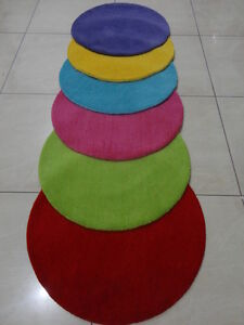 Indian Hand Tufted Plain Round Modern Woolen Carpet Rug Alfombras Teppich Kids