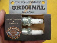 Harley original spark plugs pair 32303-47A NOS motor engine parts 01661