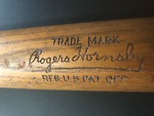 "1930's  Rogers Hornsby 32"" Stamped 40 R.H.J. Louisville Slugger Baseball Bat"
