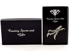 Talons Claws Eagle Hawk Finest English Pewter Lapel Pin Badge Hand Made Gift Box