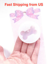 Shiny Dog Bone Cat Pendant Silicone Mold - 2 Styles - Custom Dog Cat Tag - Resin
