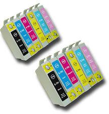 """12 T0791-T0796 """"Hibou"""" non-OEM Cartouches d'encre compatibles avec Epson Stylus 1 500 w"""