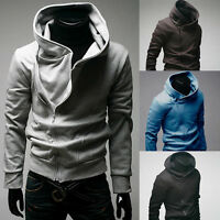 High Collar Men's Jacket slim Dust Coat Hoodies Clothes Sweater Overcoat Gift