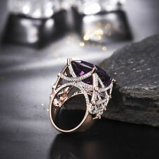 18ct Rose Gold Stunning African Amethyst and Diamonds Ring GBP 6500