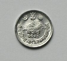 2028/1971 NEPAL Mahendra Bir Bikram Aluminum FAO Coin 1 Paisa - AU+ toned-lustre