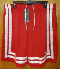 Nwt Men's Under Armour Baseline Basketball Shorts Xl Red 1305729 -964 00004000
