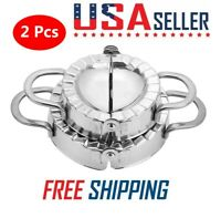 Small & Large Stainless Steel Dough Ravioli Making Mould Maker Dumpling PieMold