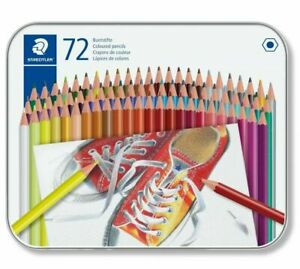 Staedtler 175 M72 Coloured Pencils (Tin of 72)   Colouring In, Pack of Pencils