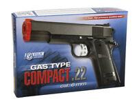 Pistola air soft gas compact 22 calibro 6 mm giocattolo
