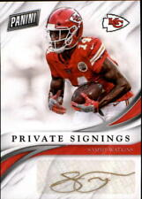 2018 Panini Private Signings #KC Sammy Watkins AUTO Autograph Chiefs