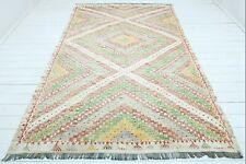 """Vintage Turkish Cal Kilim, Area Rugs, Antique Wool Rug, Floor Carpet 71""""X112"""""""