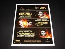 The Weeknd & Iggy Azalea Concert Live NYE 2015 Vegas 15x12 Matted Event Art/Ad