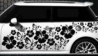 122-teiliges Auto Aufkleber Hibiskus Blumen Schmetterlinge HAWAII a WANDTATTOO