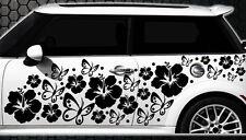 122-parties Autocollants Pour Voiture Hibiscus Fleurs Papillons Hawaï a