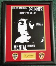 Keith Moon 'Famous Quotes' # Framed Print/Plectrums Buy 2, get 3rd Half Price