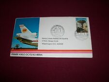 IBERIA DC 10/30  First Flight Cover Madrid-Boston- Washington 18/6/73  Excellent