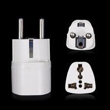 UK US AU Socket to EU 2 Round Pin Plug Adapter Charger Travel Converter IDXX