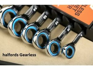 Halfords Gearless Straight Ratchet Spanner Gear-less Single Size 8mm - 17mm