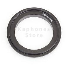 55mm Macro Reverse Ring For Pentax PK k-01 kr K-x K-m K-7 K-5 K-20D K-10D K-200D