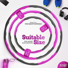 1KG Weighted Collapsible Hula Hoop Padded Exercise Gym Workout Abdominal 3 Sizes