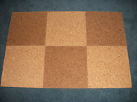 TWO-TONE CORK TILES FOR NOTICEBOARDS/PINBOARDS