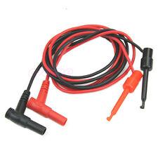 1Pair Banana Plug Test Hook Clip Probe Cable For Multimeter Equipment 2pcs