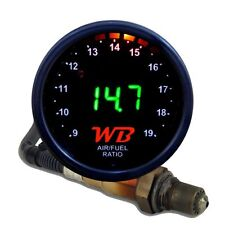 APSX V2 Anti-Glare D2 Digital Wideband O2 AFR Gauge & Sensor Kit Black & GREEN